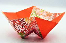 Geometryczna miseczka orgami jesienne liście