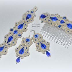 ivory biżuteria ślubna, komplet sutasz