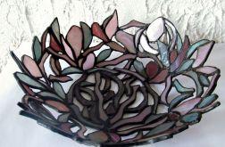 Ażutrowa patera w magnolie