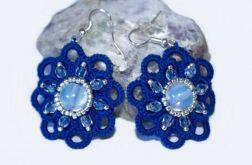 Niebieskie kwiatki-kolczyki