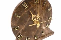 Zegar stojący z marmuru Emperador Dark