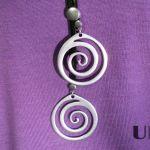 Naszyjnik damski wisior talizman spirala
