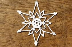 śnieżynka gwiazdka ozdoba choinkowa