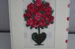 Kartka - Drzewko róż