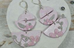 Urocze kolczyki na wiosnę - różowo szare