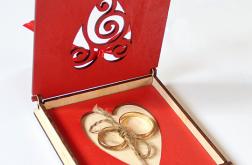 Pudełko na obrączki ślubne ślub wesele tacka