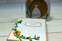 Kartka ślubna w pudełku quilling