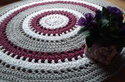 Bawełniany okrągły dywan 100cm