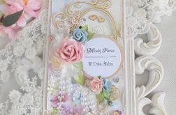 Ślubna kartka DL w pudełku 43