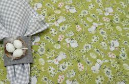 Prostokątny obrus 135 x 180 cm zielony - Wielkanoc