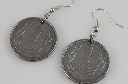 Złotówki - kolczyki z monet