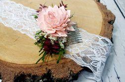 Grzebyk zieleń brodo pudrowy róż