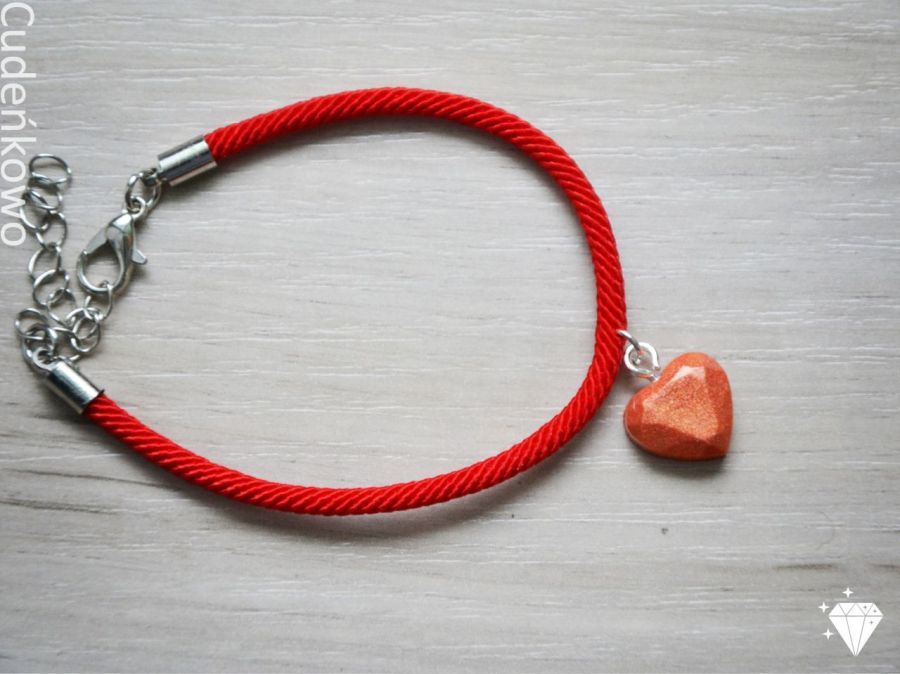 Zatopek bransoletka pomarańczowe serce