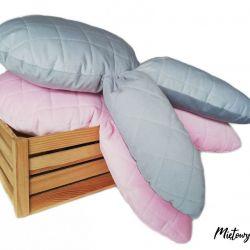 Komplet 2 poduszek / maskotek ~ zajączki
