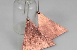 Trójkąty - miedziane kolczyki 191117-04