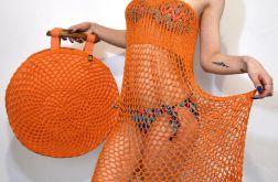 duża torba wiosenno-letnia pomarańczowa