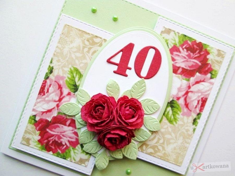 Kartka ROCZNICA ŚLUBU - ciemnoczerwone róże - Kartka z okazji rocznicy ślubu z czerwonymi rożami