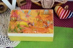 Pudełko drewniane - Wesołe wróżki