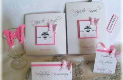 Zaproszenie - zawiadomienie na Ślub z motylami
