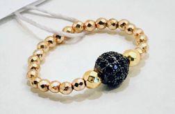 Pierścionek elastyczny Kula kryształki 1