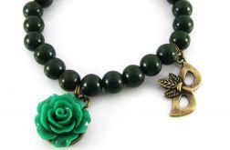 Ciemno-zielona bransoletka