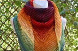 Chusta w kolorach jesieni