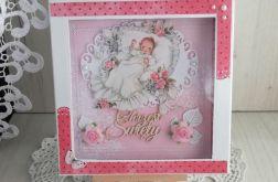 Kartka na Chrzest w pudełeczku Lullaby