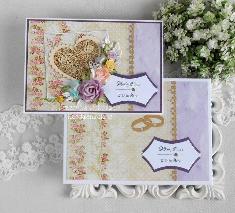 Ślubna kartka A5 w pudełku pełnym 03