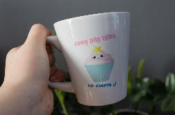 Kubek latte Kawa Ciasto
