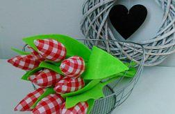 Tulipan 100% bawełna 10szt czer.krat.