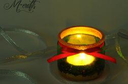 Świąteczny lampion szklany -5-