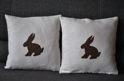 Lniana poszewka z królikiem