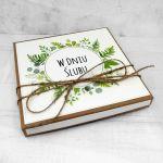 Kartka na ślub eko minimalistyczna w pudełku - Kartka na Ślub w pudełku eko zielona minimalistyczna (4)