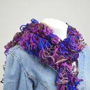 fantazyjny szal -fiolet z niebieskim