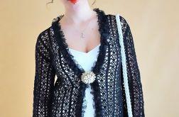 Bluzka-wdzianko szydełkowa czarna
