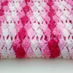 Kocyk różowy melanż