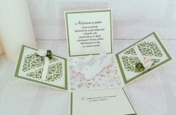 Pudełko ślubne w wiosennych kolorach