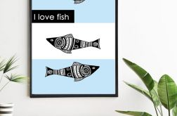 Plakat I love fish