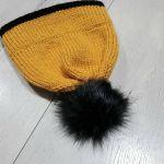 Ciepła zimowa czapka z podwójnym rondem. - null