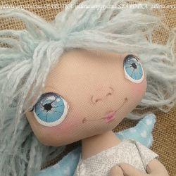 ANIOŁEK lalka - dekoracja tekstylna, OOAK /09