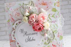 Rocznicowa kartka w kwiatach