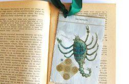 Zodiak Skorpion-zakładka do książki retro