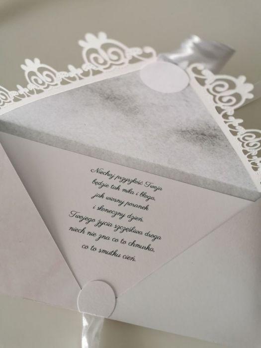 Kartka na Chrzest Chrzciny z okazji Chrztu różowa - życzenia