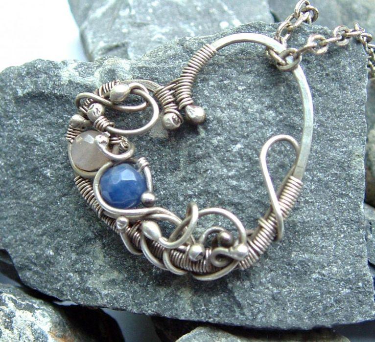 Srebrne serce wire wrapping