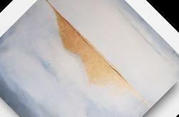 Biała abstrakcja ze złotem