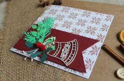 Kartka świąteczna dzwonek jodła