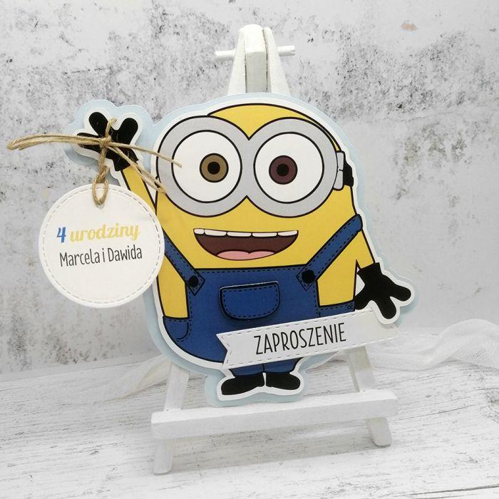 Zaproszenia na urodziny Minionek ZUD 015 - Zaproszenia na urodziny Minionek 2