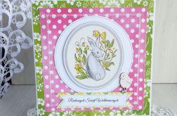 Kartka Wielkanocna z Zajączkiem i kurką nr 4