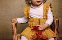 Spódniczka-Ogrodniczka Musztarda Merynos Dzie