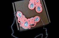 Koralowa biżuteria komplet dla druhny sutasz